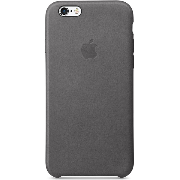 Apple Leather Case For iPhone 6s - Storm Gray اپل کیس چرم مخصوص آیفون 6s - خاکستری
