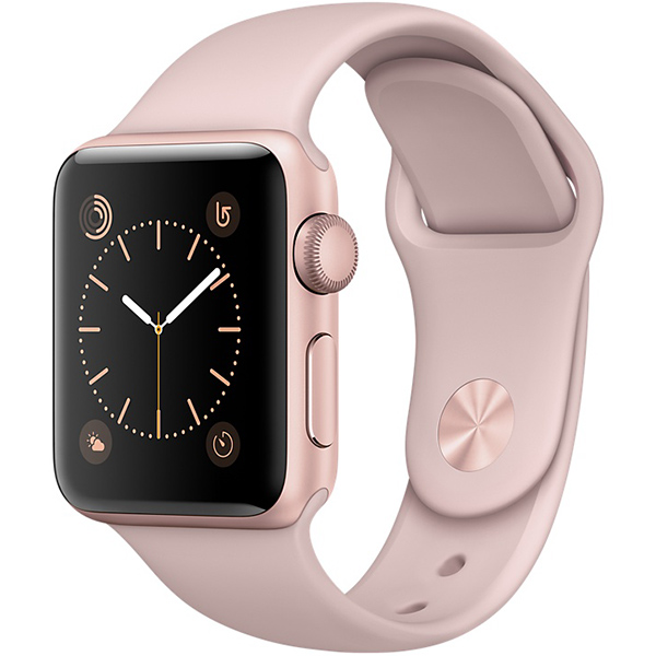 Apple Watch Series 1 Sport 38mm Rose Gold Aluminum Case with Pink Sand Sport Band اپل واچ سری 1 اسپرت زنانه مدل Rose Gold Aluminum Case with Pink Sand Sport Band
