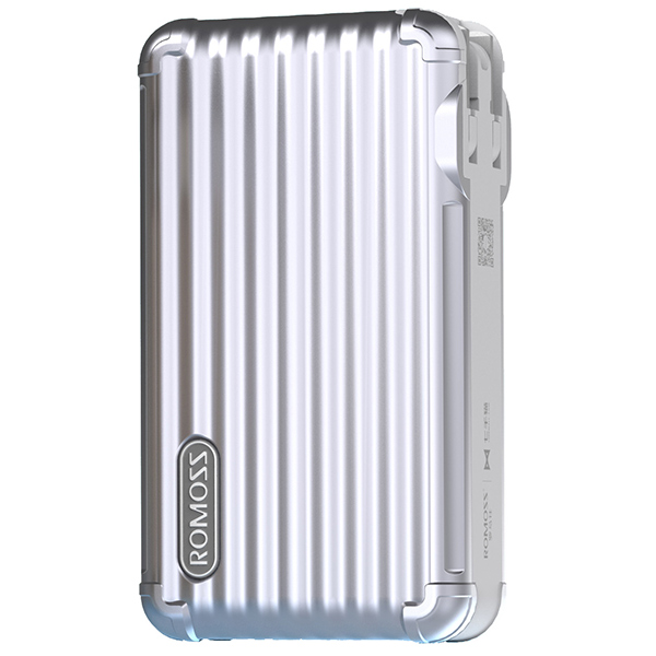 PowerBank Romoss UPower Series 10000mAh - Silver پاوربانک روموس مدل UPower Series با ظرفیت 10000 میلی آمپر نقره ای