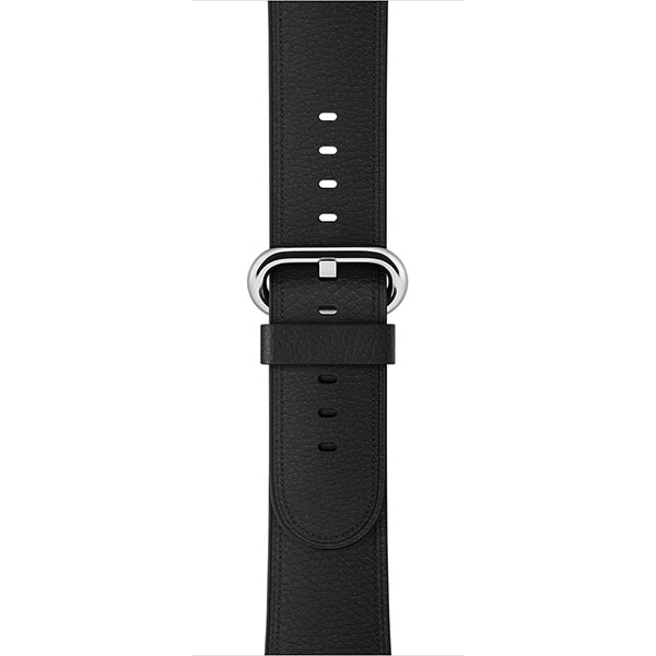 Apple Leather Band 38mm Black Classic Buckle