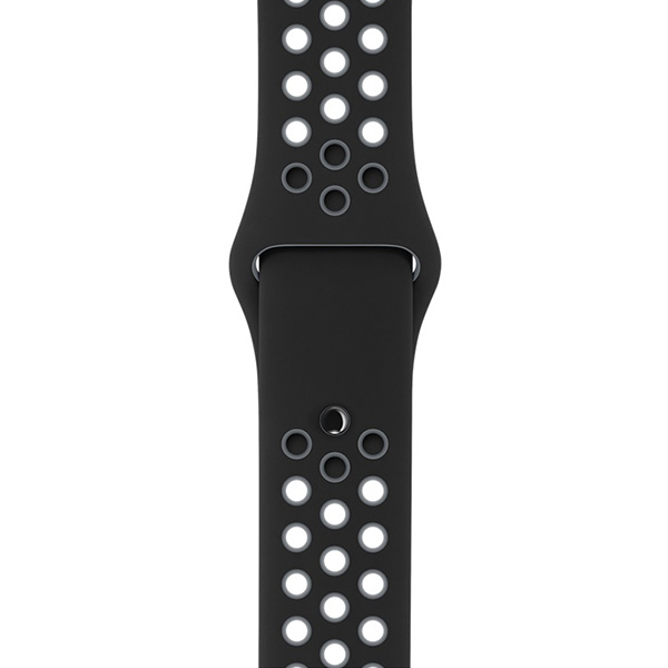 Apple Watch Nike+ Series 38mm Space Gray Aluminum Case with Black Cool Gray Nike Sport Band MNYX2 اپل واچ سری نایکی پلاس زنانه 38 میلیمتری Space Gray Aluminum Case with Black Cool Gray Nike Sport Band