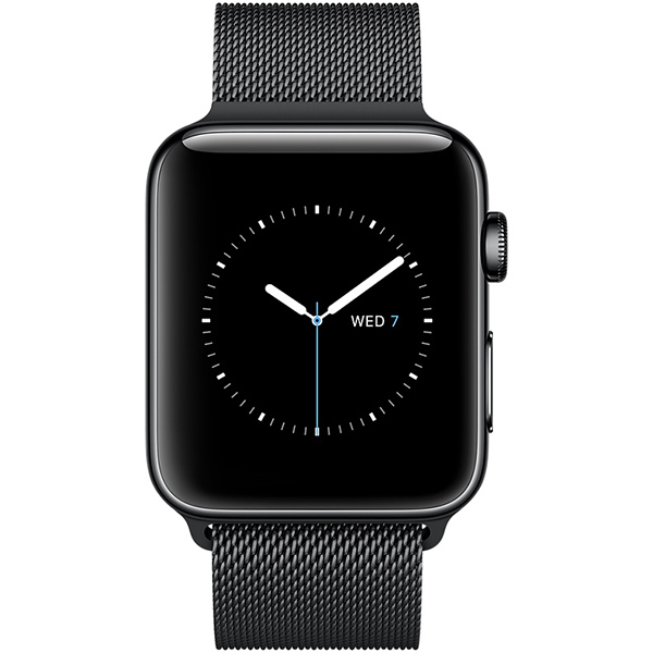 Apple Watch Series 2 38mm Space Black Stainless Steel Case with Space Black Milanese Loop اپل واچ سری 2 استیل زنانه مدل Space Black Stainless Steel Case with Space Black Milanese Loop