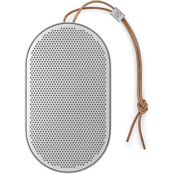 Speaker Bang and Olufsen Beoplay P2 Portable, splash and dust resistant, Bluetooth speaker - Natural اسپیکر بنگ اند آلفسن پرتابل بلوتوث مدل Beoplay P2 Portable نقره ای