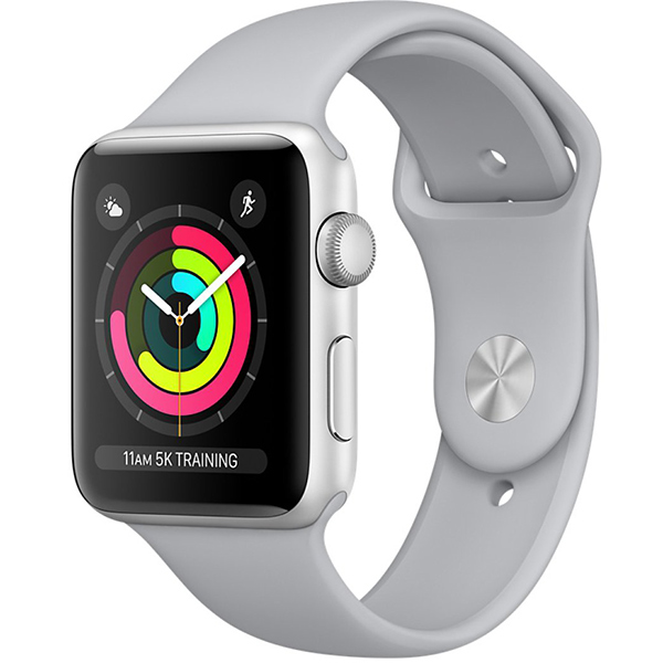 Apple Watch Series 3 38mm Silver Aluminum Case with Fog Sport Band - GPS اپل واچ سری 3 اسپرت زنانه 38 میلیمتری مدل Silver Aluminum Case with Fog Sport Band - جی پی اس