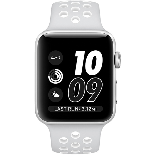 Apple Watch Nike+ Series 38mm Silver Aluminum Case with Pure Platinum White Nike Sport Band