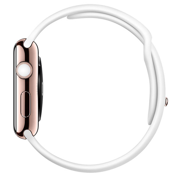Apple Watch Edition 38mm 18-Karat Rose Gold White Sport Band MJ8P2 اپل واچ ادیشن زنانه طلا 18 عیار - Rose Gold White Sport Band MJ8P2
