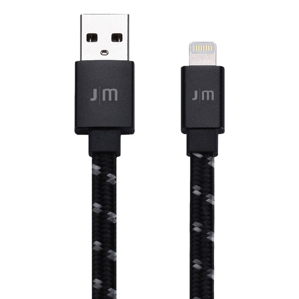 Just Mobile 1.2m AluCable Flat Braided Lightning Cable Rose Gold DC-268RG جاست موبایل کابل لایتنینگ 1.2 متری مدل AluCable Flat Braided Lightning Cable رزگلد