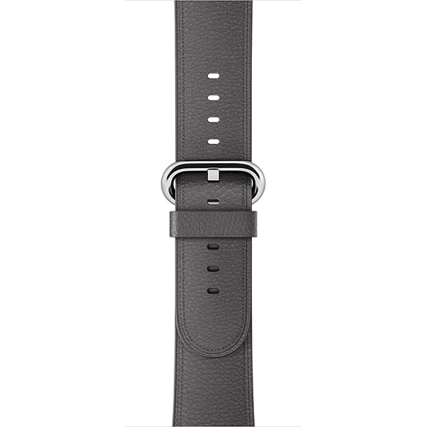 Apple Leather Band 38mm Storm Gray Classic Buckle