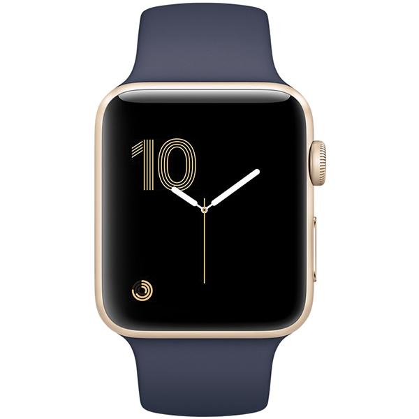Apple Watch Series 1 Sport 38mm Gold Aluminum Case with Midnight Blue Sport Band
