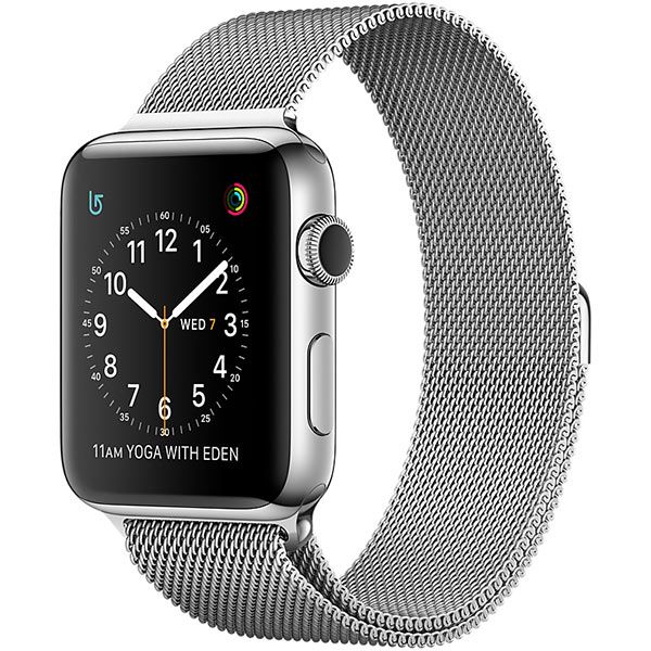 Apple Watch Series 2 38mm Stainless Steel Case with Milanese Loop اپل واچ سری 2 استیل زنانه مدل Stainless Steel Case with Milanese Loop