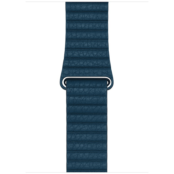 Apple Leather Band 42mm Cosmos Blue Leather Loop