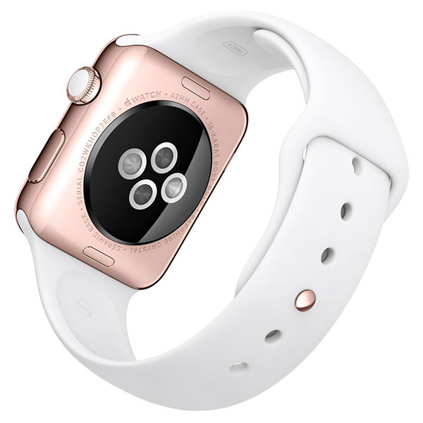 Apple Watch Edition 42mm 18-Karat Rose Gold White Sport Band MJ4A2 اپل واچ ادیشن مردانه طلا 18 عیار - Rose Gold White Sport Band MJ4A2