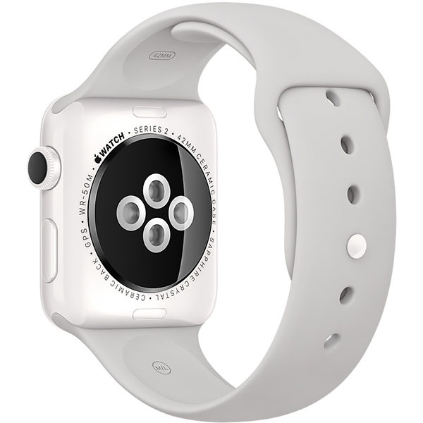 Apple Watch Series 2 Edition 38mm White Ceramic Case with Cloud Sport Band اپل واچ سری 2 ادیشن زنانه 38 میلیمتری مدل White Ceramic Case with Cloud Sport Band