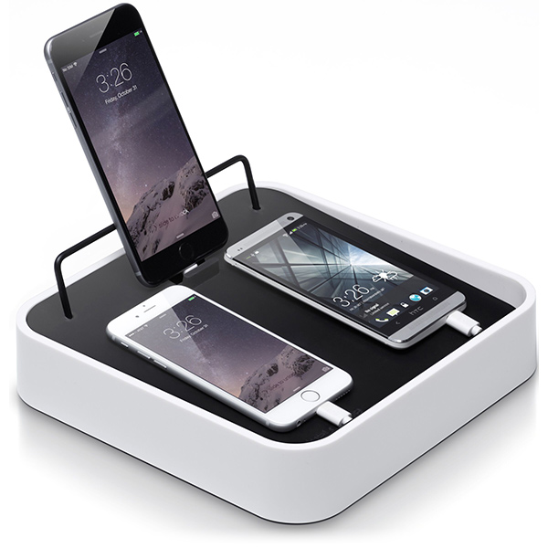 BlueLounge Sanctuary 4 Charger Station for iPhone - White