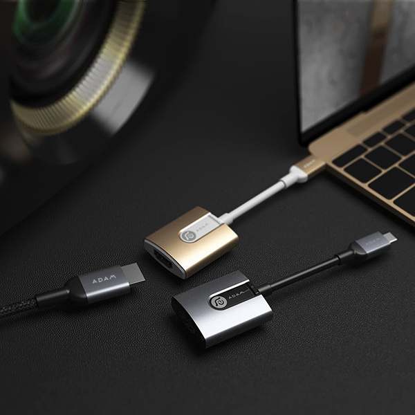 Adam Elements CASA H01 USB-C to HDMI Adapter - Rose Gold آدام المنتس کیت آداپتور تبدیل USB-C به HDMI مدل CASA H01 - رزگلد
