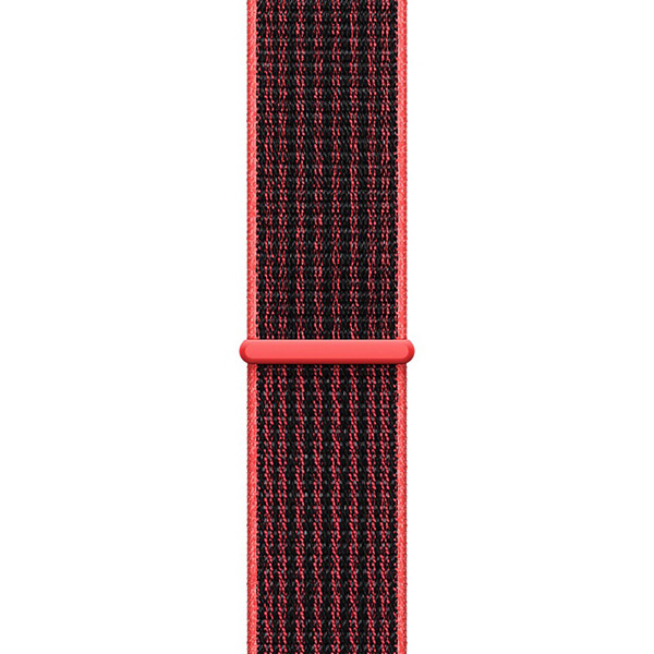 Apple Watch Series 3 38mm Silver Aluminum Case with Bright Crimson Black Nike Sport Loop - Cellular اپل واچ سری 3 نایکی پلاس زنانه 38 میلیمتری Silver Aluminum Case with Bright Crimson Black Nike Sport Loop