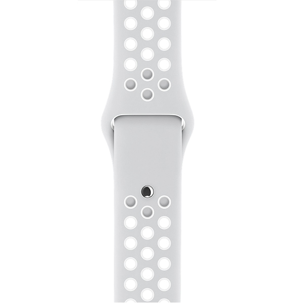 Apple Watch Nike+ Series 38mm Silver Aluminum Case with Pure Platinum White Nike Sport Band اپل واچ سری نایکی پلاس زنانه مدل Silver Aluminum Case with Pure Platinum White Nike Sport Band