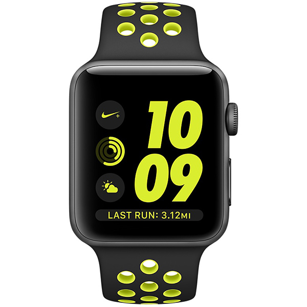 Apple Watch Nike+ Series 38mm Space Gray Aluminum Case with Black Volt Nike Sport Band MP082