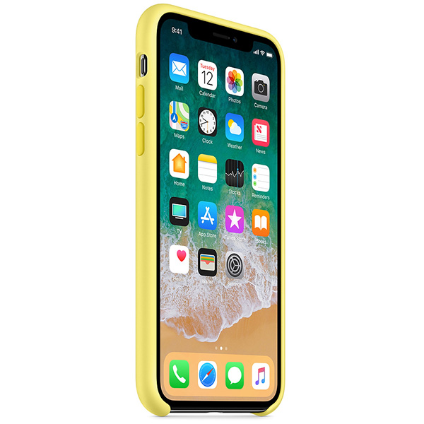 Apple iPhone X Silicone Case - Lemonade اپل سیلیکون کیس آیفون مدل iPhone X Silicone Case مخصوص آیفون ایکس - زرد