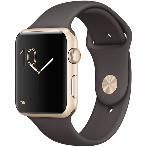 Apple Watch Series 1 Sport 42mm Gold Aluminum Case with Cocoa Sport Band اپل واچ سری 1 اسپرت مردانه مدل Gold Aluminum Case with Cocoa Sport Band