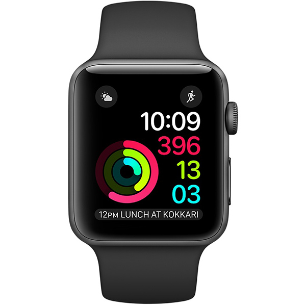 Apple Watch Series 2 Sport 42mm Space Gray Aluminum Case with Black Sport Band