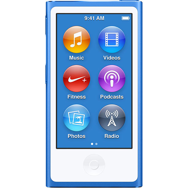 iPod Nano 7th Generation Portable Music Player 16GB Blue