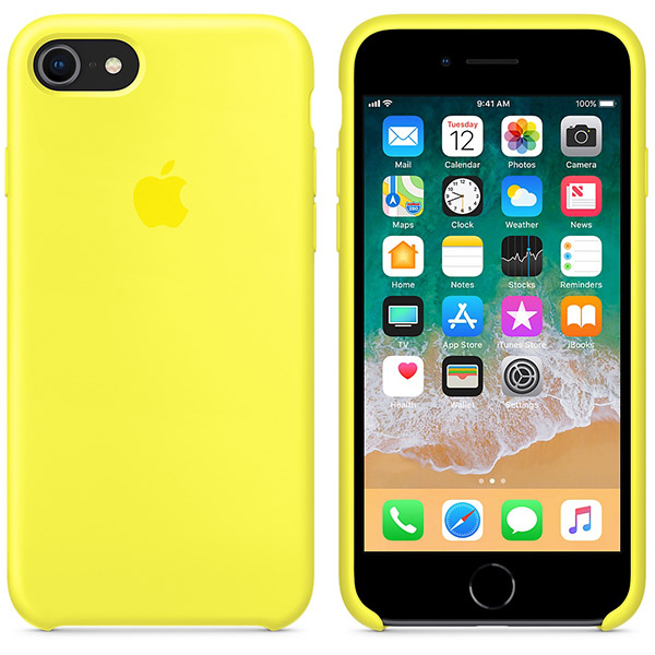 Apple iPhone 8 & iPhone 7 Silicone Case - Flash اپل قاب Silicone Case سیلیکون کیس مخصوص آیفون 7 و آیفون 8 - زرد
