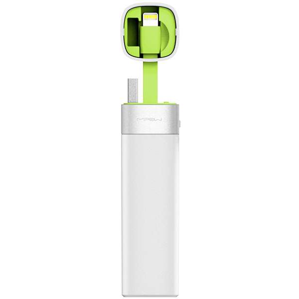 PowerBank MiPOW Power Tube 3000 Lightning Version SPL06 - Green پاوربانک مایپو پاورتیوب لایتنینگ ورژن 3000 میلی آمپر SPL06 - سبز