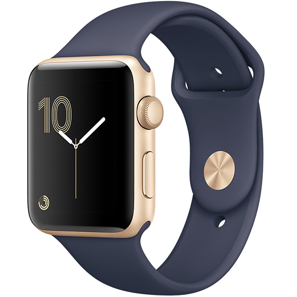 Apple Watch Series 2 Sport 38mm Gold Aluminum Case with Midnight Blue Sport Band اپل واچ سری 2 اسپرت زنانه مدل Gold Aluminum Case with Midnight Blue Sport Band