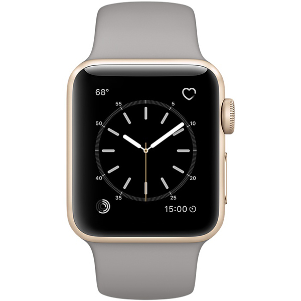 Apple Watch Series 1 Sport 38mm Gold Aluminum Case with Concrete Sport Band