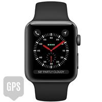 Apple Watch Series 3 42mm Space Gray Aluminum Case with Black Sport Band - GPS اپل واچ سری 3 اسپرت مردانه 42 میلیمتری مدل Space Gray Aluminum Case with Black Sport Band - جی پی اس