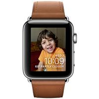 Apple Watch Series 2 42mm Stainless Steel Case with Saddle Brown Classic Buckle اپل واچ سری 2 استیل مردانه مدل Stainless Steel Case with Saddle Brown Classic Buckle