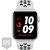 Apple Watch Series 3 42mm Silver Aluminum Case with Pure Platinum Black Nike Sport Band - GPS اپل واچ سری 3 نایکی پلاس مردانه 42 میلیمتری Silver Aluminum Case with Pure Platinum Black Nike Sport Band