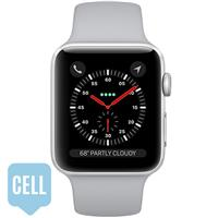 Apple Watch Series 3 38mm Silver Aluminum Case with Fog Sport Band - GPS + Cellular اپل واچ سری 3 اسپرت زنانه 38 میلیمتری مدل Silver Aluminum Case with Fog Sport Band - سلولار