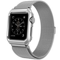Mobest 38mm Milanese Stainless Steel Wrist Band with Metal Protective Case - Silver موبست بند اپل واچ 38 میلیمتری مدل Milanese Stainless Steel Wrist Band نقره ای