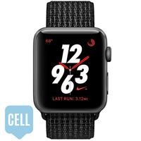 Apple Watch Series 3 38mm Space Gray Aluminum Case Black Pure Platinum Nike Sport Loop - Cellular اپل واچ سری 3 نایکی پلاس زنانه 38 میلیمتری Space Gray Aluminum Case Black/Pure Platinum Nike Sport Loop