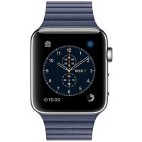 Apple Watch Series 2 42mm Stainless Steel Case with Midnight Blue Leather Loop اپل واچ سری 2 استیل مردانه مدل Stainless Steel Case with Midnight Blue Leather Loop