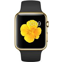 Apple Watch Edition 42mm 18-Karat Yellow Gold Black Sport Band MJ8Q2 اپل واچ ادیشن مردانه طلا 18 عیار - Yellow Gold Black Sport Band MJ8Q2