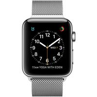 Apple Watch Series 2 42mm Stainless Steel Case with Milanese Loop اپل واچ سری 2 استیل مردانه مدل Stainless Steel Case with Milanese Loop