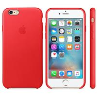 Apple Leather Case For iPhone 6s - Red اپل کیس چرم مخصوص آیفون 6s - قرمز