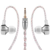 RHA CL750 Precision Stainless Steel Earphone Dynamic Driver Noise Isolating Silver آر اچ ای هدفون مدل CL750 داینامیک درایور نقره ای