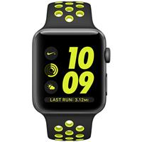 Apple Watch Nike+ Series 42mm Space Gray Aluminum Case with Black Volt Nike Sport Band MP0A2 اپل واچ سری نایکی پلاس مردانه 42 میلیمتری مدل Space Gray Aluminum Case with Black Volt Nike Sport Band