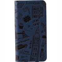 Ozaki O!Coat Travel Folio Leather Case for iPhone 6 and 6s London Blue OC569LD اوزاکی کیف آیفون مدل O!Coat Travel Folio مخصوص آیفون 6 و 6s لندن