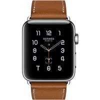 Apple Watch Series 2 Hermes 38mm Stainless Steel Case with Fauve Barenia Leather Single Tour اپل واچ سری 2 هرمس زنانه مدل Stainless Steel Case with Fauve Barenia Leather Single Tour