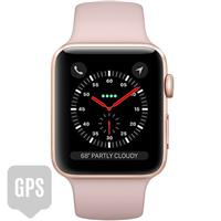 Apple Watch Series 3 42mm Gold Aluminum Case with Pink Sand Sport Band - GPS اپل واچ سری 3 اسپرت مردانه 42 میلیمتری مدل Gold Aluminum Case with Pink Sand Sport Band - جی پی اس